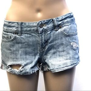 PINK by VS perfectly distressed denim shorts